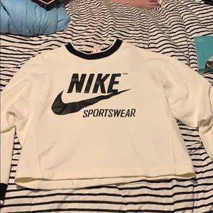 Cream oversized nike sweatshirt